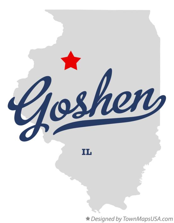 Map of Goshen Illinois IL