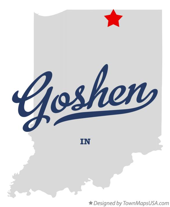 Map of Goshen Indiana IN