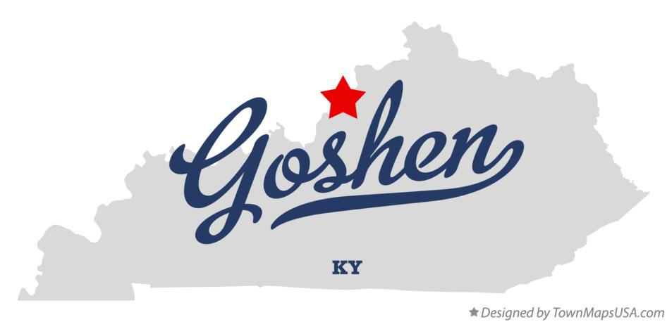 Map of Goshen Kentucky KY
