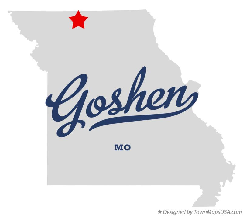 Map of Goshen Missouri MO