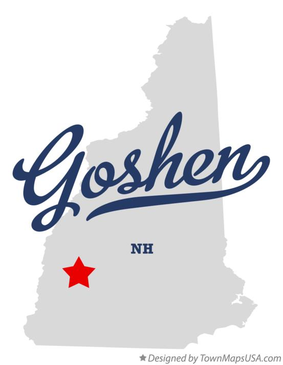 Map of Goshen New Hampshire NH