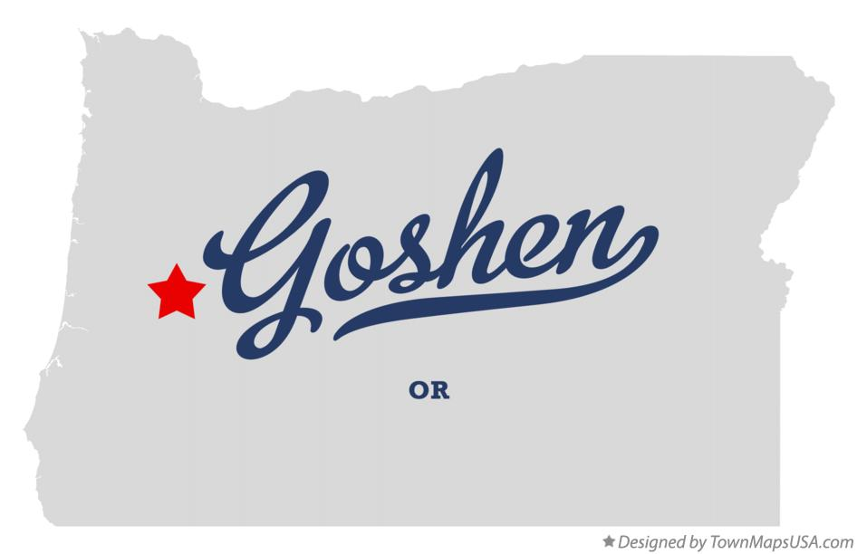 Map of Goshen Oregon OR