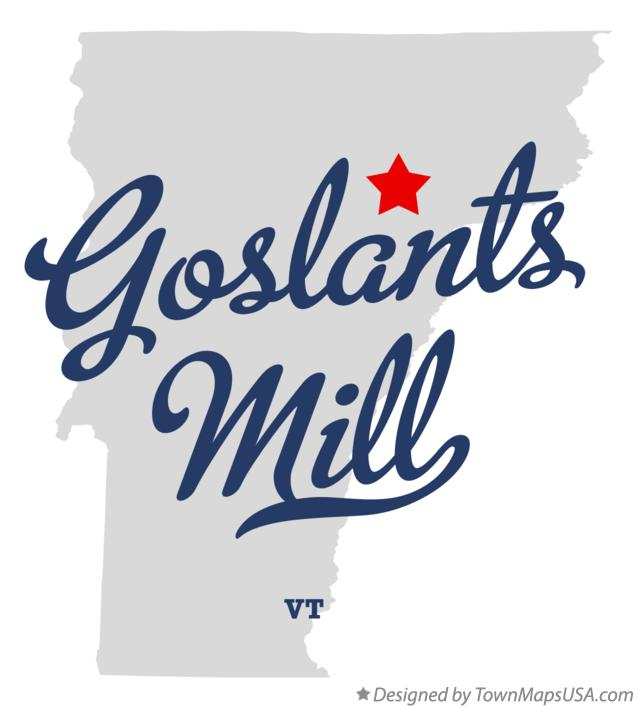 Map of Goslants Mill Vermont VT