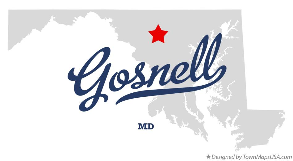 Map of Gosnell Maryland MD