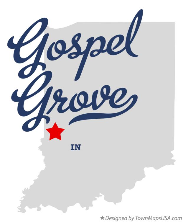 Map of Gospel Grove Indiana IN