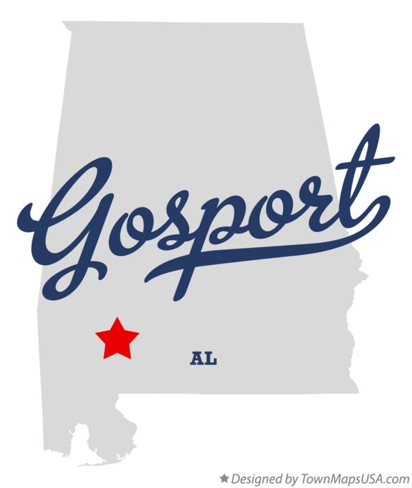 Map of Gosport Alabama AL