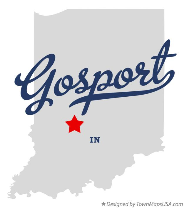 Map of Gosport Indiana IN
