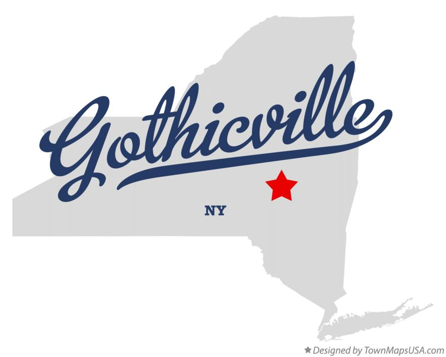 Map of Gothicville New York NY