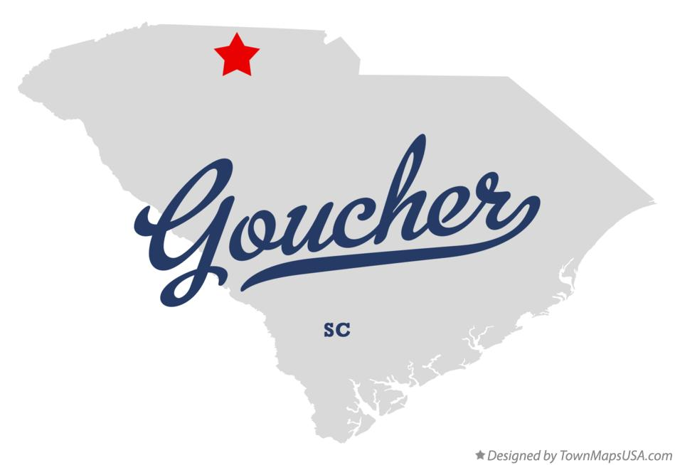 Map of Goucher South Carolina SC