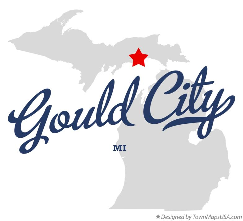 Map of Gould City Michigan MI