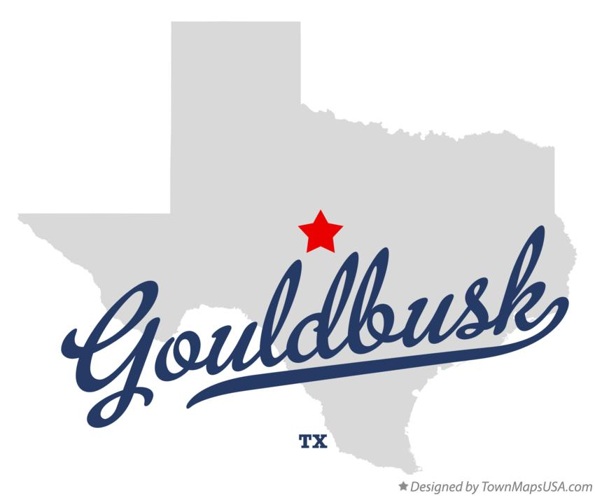 Map of Gouldbusk Texas TX