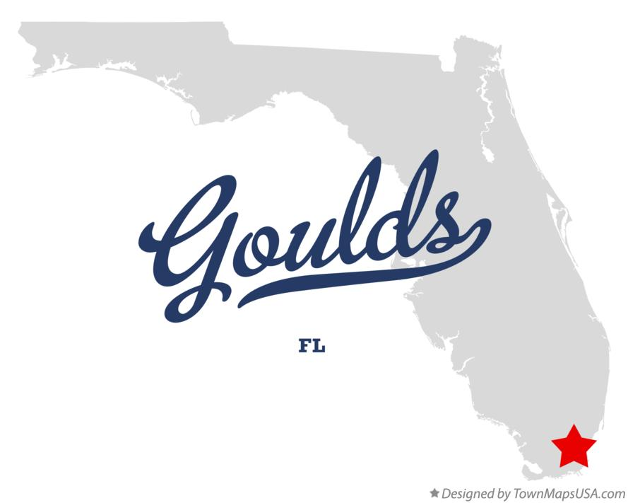 Map of Goulds Florida FL