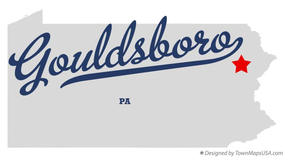 Map of Gouldsboro Pennsylvania PA