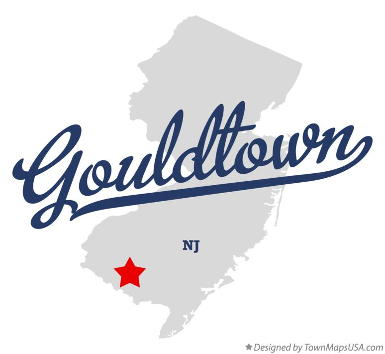 Map of Gouldtown New Jersey NJ
