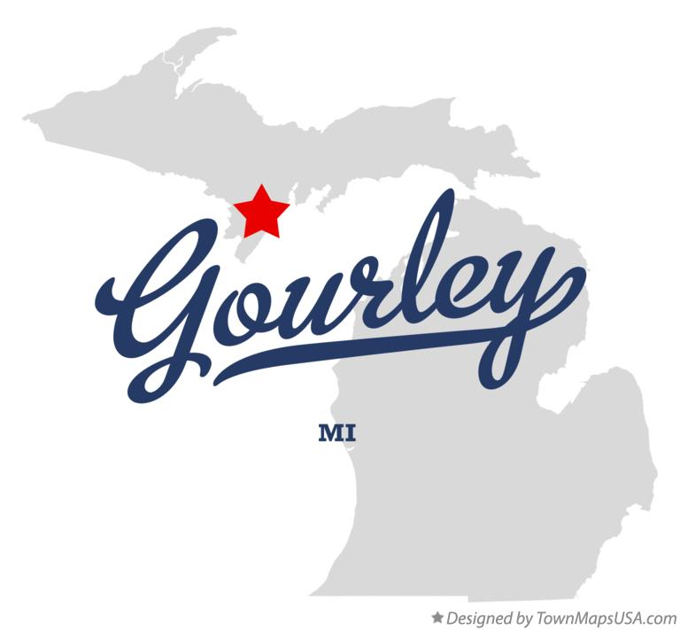 Map of Gourley Michigan MI