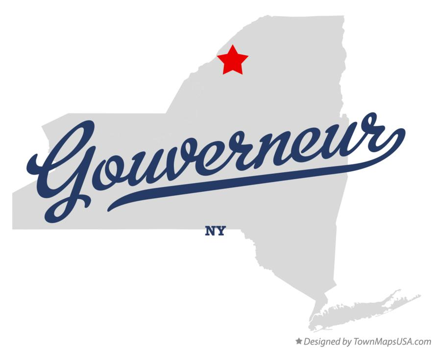 Map of Gouverneur New York NY