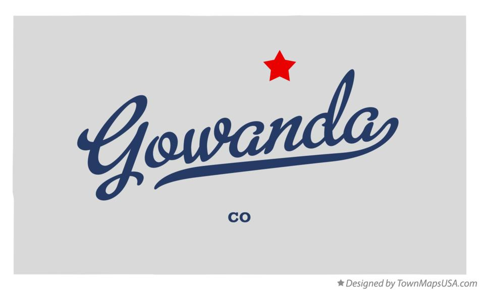 Map of Gowanda Colorado CO