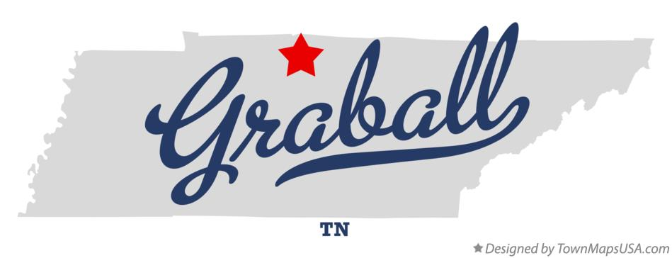 Map of Graball Tennessee TN