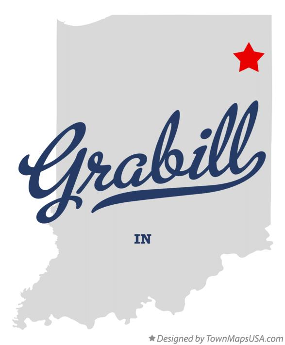 Map of Grabill Indiana IN