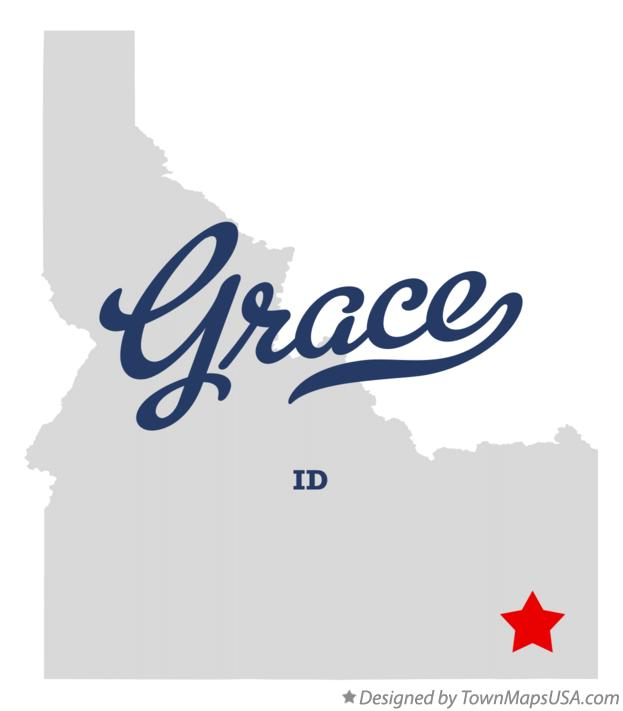 Map of Grace Idaho ID