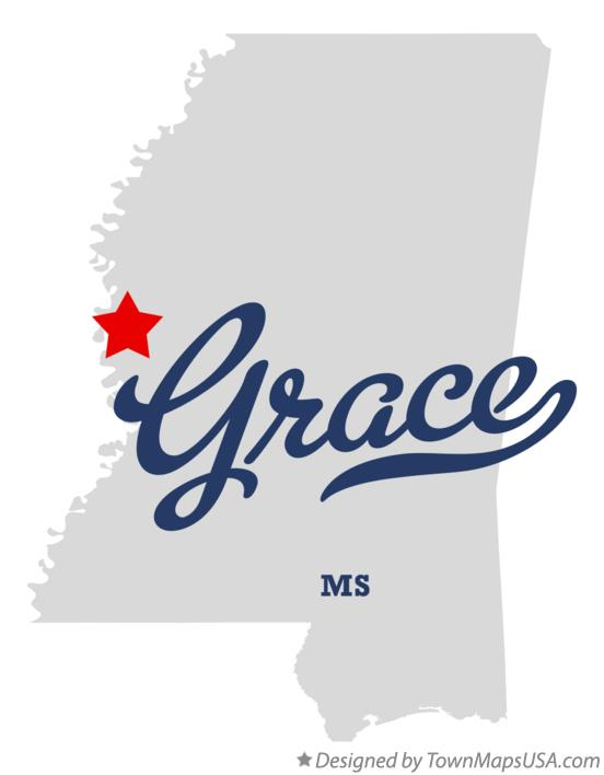 Map of Grace Mississippi MS
