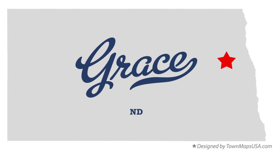 Map of Grace North Dakota ND