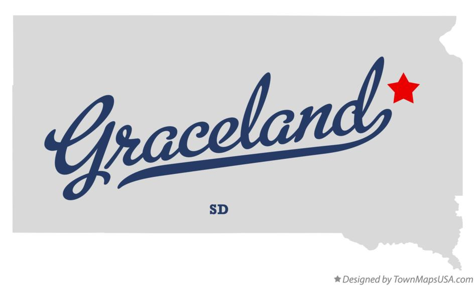 Map of Graceland South Dakota SD