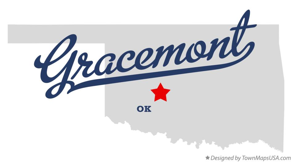 Map of Gracemont Oklahoma OK