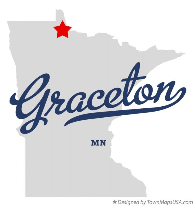 Map of Graceton Minnesota MN