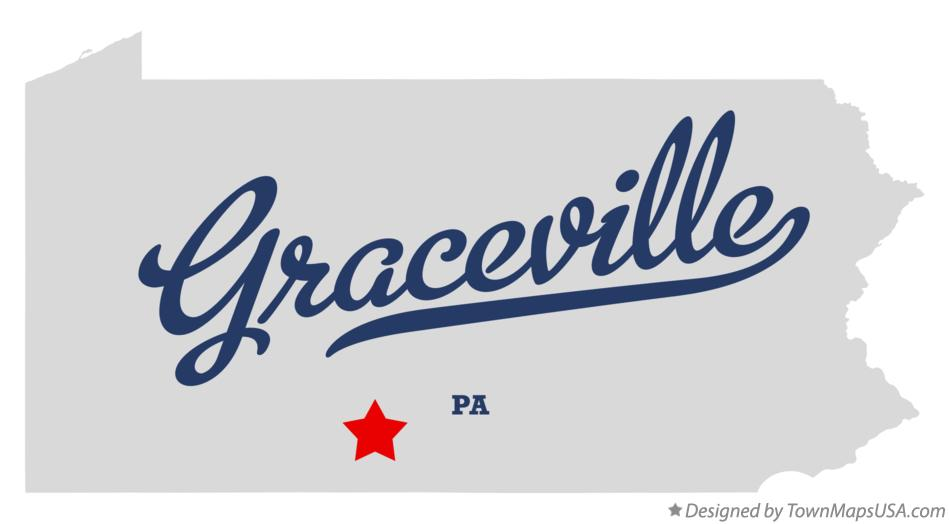 Map of Graceville Pennsylvania PA