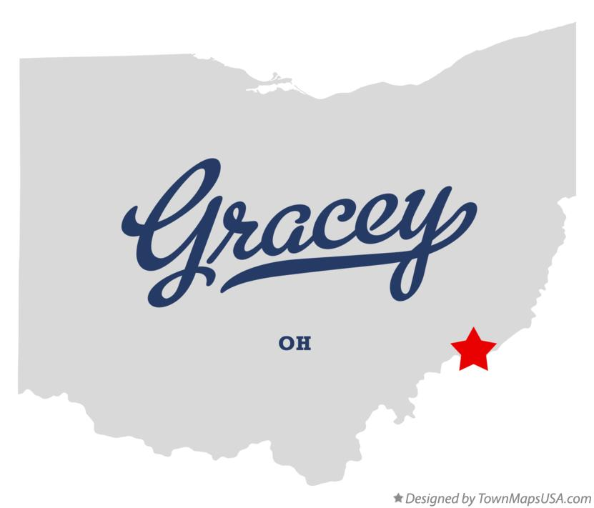 Map of Gracey Ohio OH