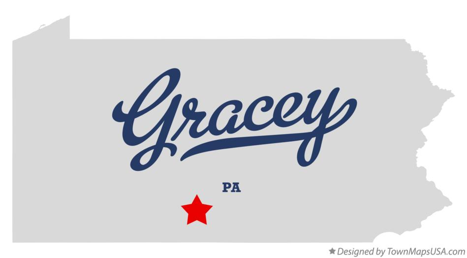 Map of Gracey Pennsylvania PA