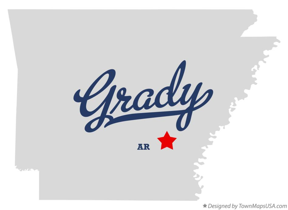 Map of Grady Arkansas AR