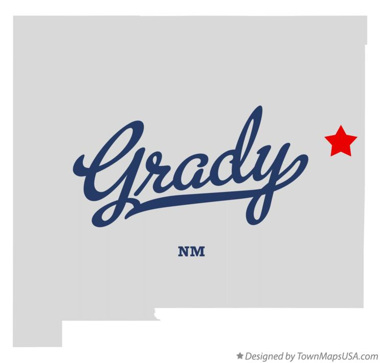 Map of Grady New Mexico NM