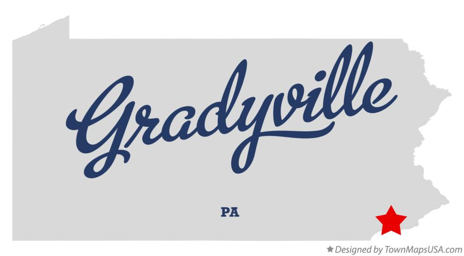 Map of Gradyville Pennsylvania PA