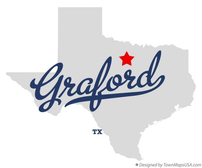 Map of Graford Texas TX
