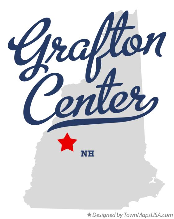 Map of Grafton Center New Hampshire NH