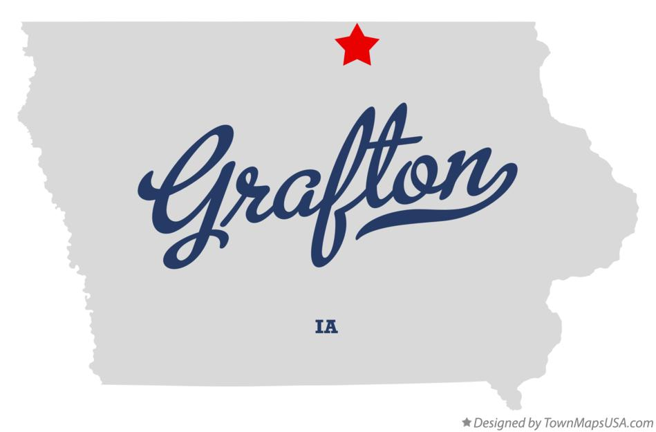 Map of Grafton Iowa IA