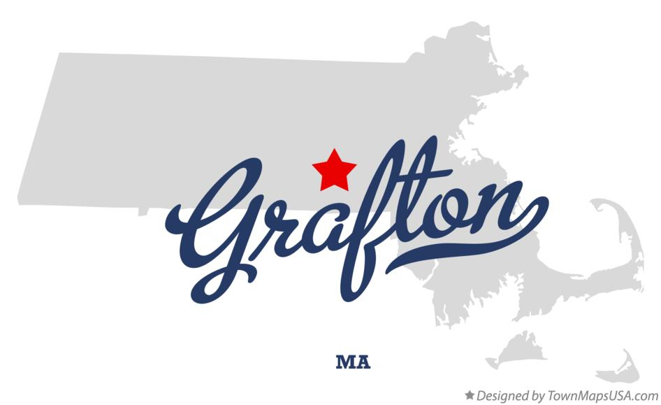 Map of Grafton Massachusetts MA