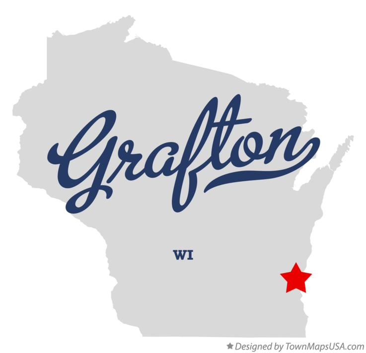 Map of Grafton Wisconsin WI