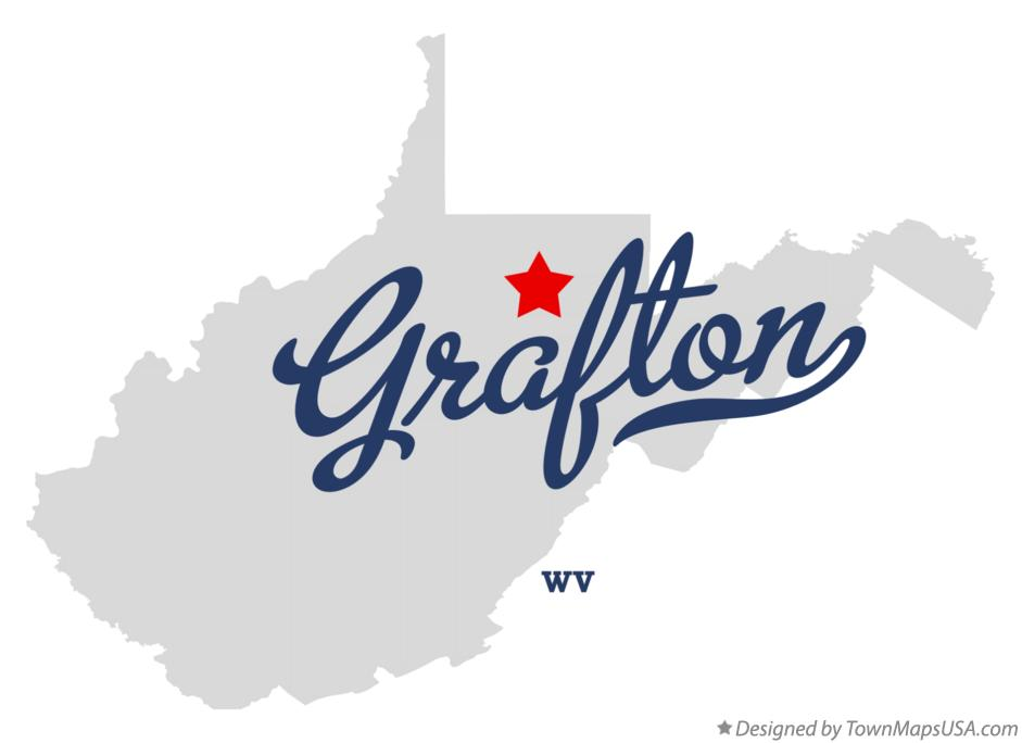 Map of Grafton West Virginia WV