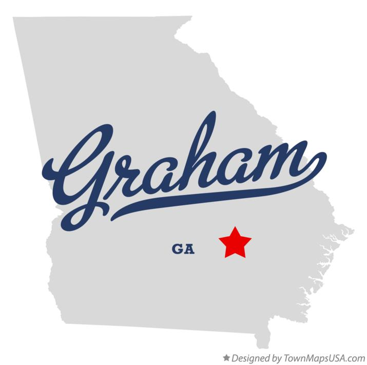 Map of Graham Georgia GA