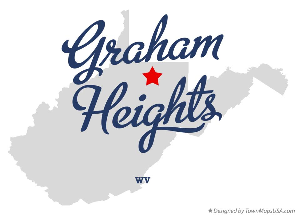 Map of Graham Heights West Virginia WV