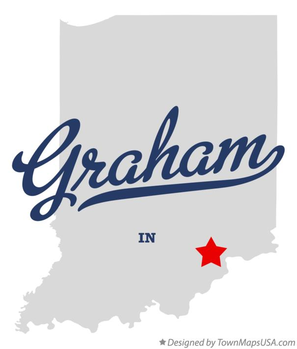 Map of Graham Indiana IN