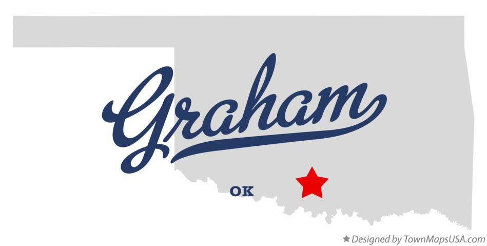 Map of Graham Oklahoma OK