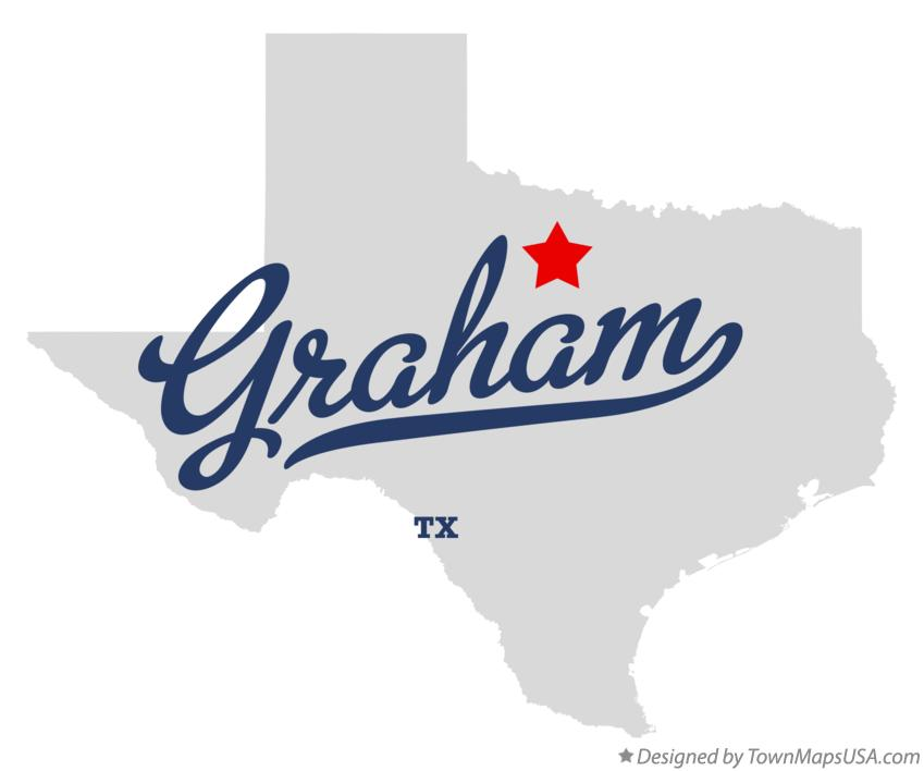 Map of Graham Texas TX