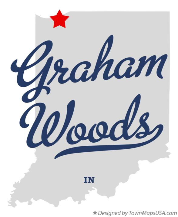 Map of Graham Woods Indiana IN
