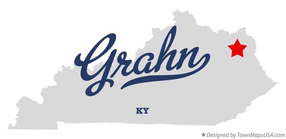 Map of Grahn Kentucky KY