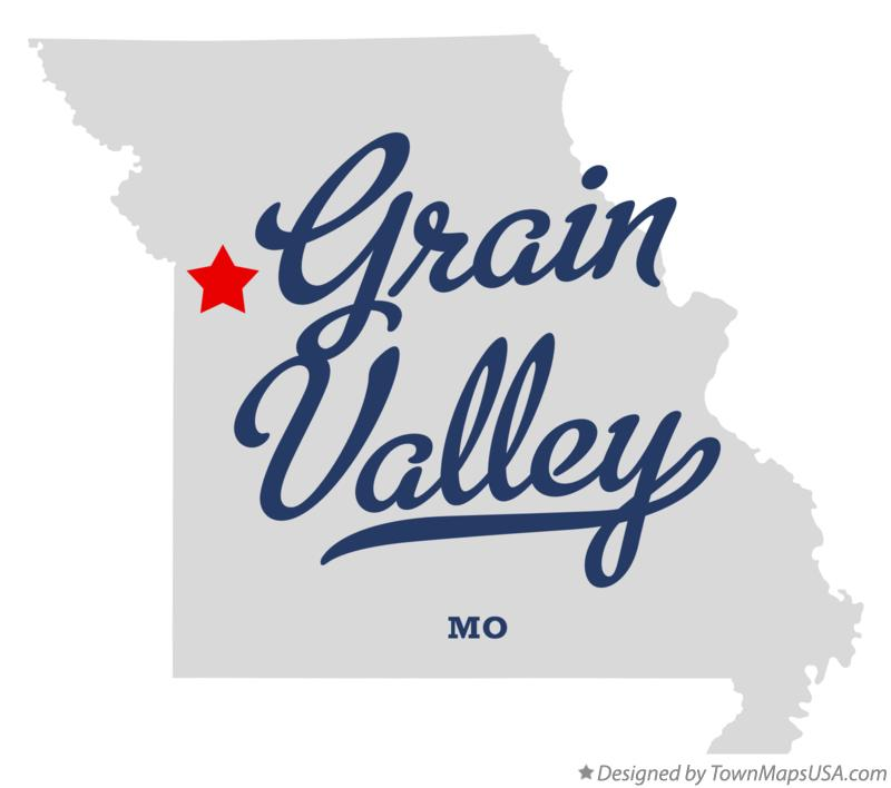 Map of Grain Valley Missouri MO