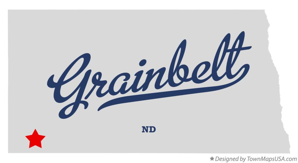 Map of Grainbelt North Dakota ND
